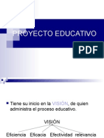 Psicologia Educativa 05 - Proyecto Educativo