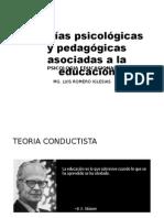 PSICOLOGIA EDUCATIVA 08 - Teorias Asociadas a La Educacion