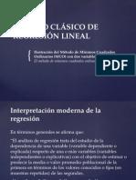 Modelo Clásico de Regresión Lineal Mco