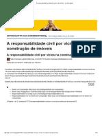 Responsabilidade Por Defeito Na Obra de Imóvel - Jus Navigandi