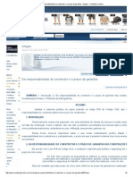 Da Responsabilidade Do Construtor e o Prazo de Garantia - Artigos - Conteúdo Jurídico