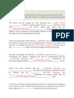 Toefl Integrated Essay Outline