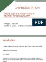 Research Presentation MA Piano Philippe Lamouris