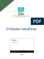 Cristales Metalicos