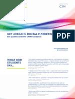 CAM Get Ahead in Digital Marketing Brochure WEB SINGLE