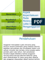 PPT-Aspek Keperilakuan Pada Perencanaan Laba Dan Penganggaran