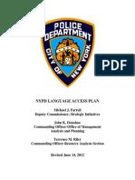 NYPD LANGUAGE ACCESS PLAN
