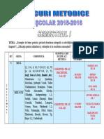 Cercuri Metodice an Scolar 2015-2016 Semestrul I