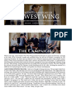 The Definite History of the West Wing