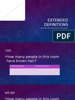 extended definitions