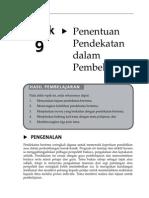 20140724084909_Topik 9 Penentuan Pendekatan Dalam Pembelajaran
