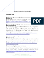 Boletín de Noticias KLR 12NOV2015