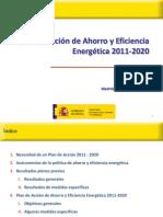 Presentacion MITyC Plan de Acción de Ahorro y Eficiencia Energética 2011-2020