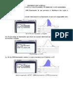 Distribución Normal Con La Calculadora Fx 9860 G II, Excel y GeoGebra