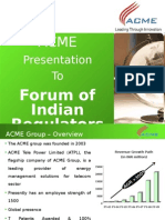 Appendix III Minutes of Research Conference ACME Presentation 20.11.09