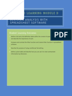 Moduled D (Decision Making Using Speadsheet)