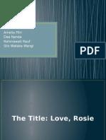 English Presentation Love Rosie