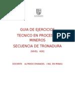 EJERCIOS DE SECUENCIA Y TRONADURA