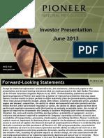 13-06-03 Pioneer Natural Resources Co June 2013 Investor Presentation