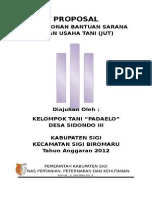 Proposal Jalan Usaha Tani