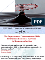 Effective Communication and Leadership