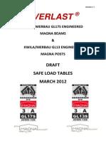 Safe Load Tables Draft 010312