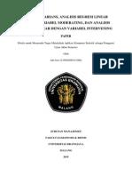 Analisis Varians, Moderating, Intervening