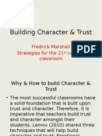 techniques that build character and trust