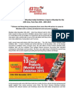 The China Products (Mumbai India) Exhibition is back in Mumbai for the 13th time, from Nov 24th - 26th 2015