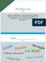 privilege 101
