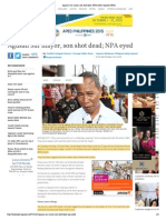 Agusan Sur Mayor, Son Shot Dead; NPA Eyed _ Inquirer News