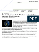the fracking - boom do we want to leave our children an industrialized landscape