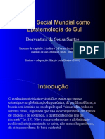 Forum Social Mundial como Epistemologia do Sul