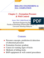 Ch 3 - Formation P Well Control Lecture Note