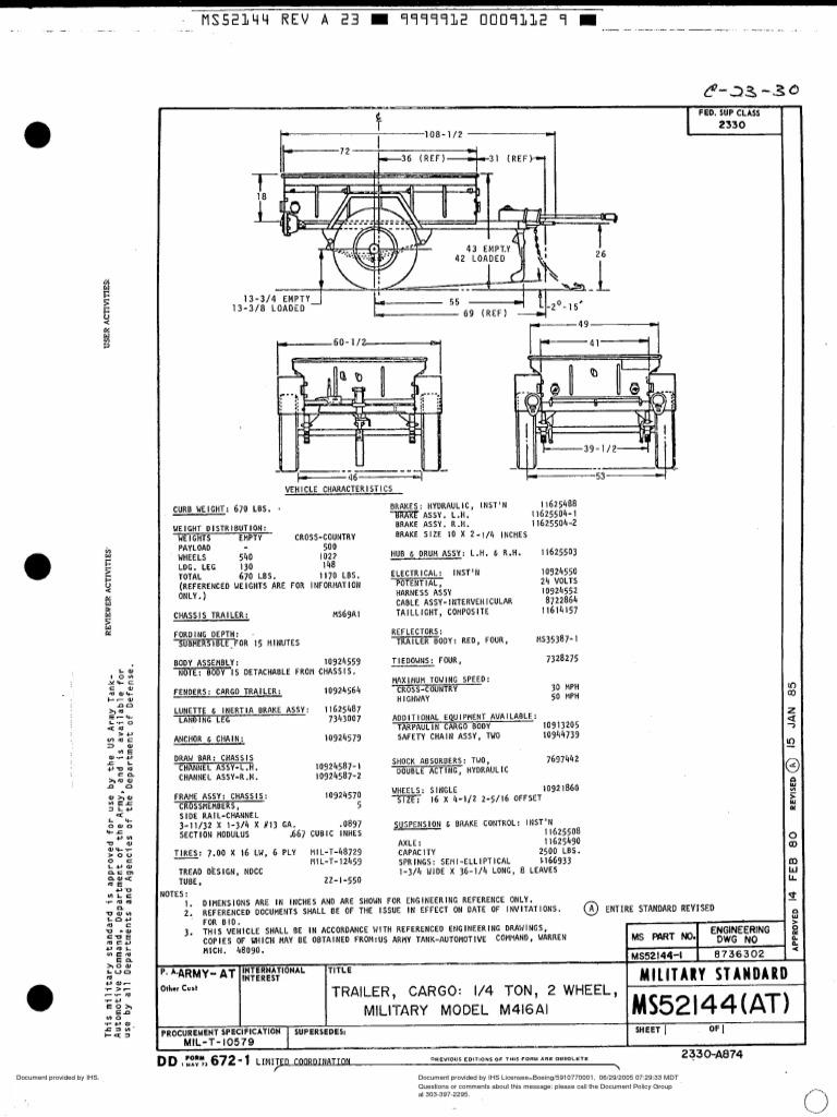 Ms52144-At m416a1 Drawing
