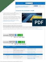 Información sobre los números de procesador Intel