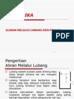 PRAKTIKUM HIDROLIKA - ALIRAN AMBANG
