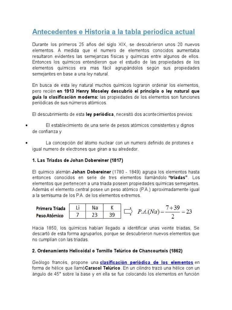 Antecedentes e historia a la tabla periodica actual 1535653387v1 urtaz Images