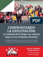 Final - Confrontando La Explotacion - CTUL Reporte Sobre La Economia de Sueldos Bajos