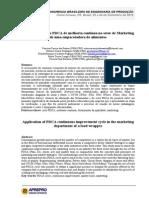 Artigo Aplicação Do Ciclo PDCA de Melhoria Contínua No Setor de Marketing de Uma Empacotadora de Alimentos