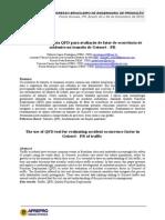 Artigo O Uso Da Ferramenta QFD Para Avaliação de Fator de Ocorrência de Acidentes No Transito de Goioerê PR