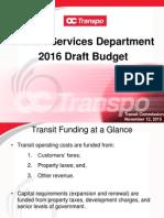 OC Transpo Draft Budget 2016