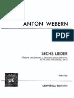 Op. 14 - Sechs Lieder Nach Gedichten Von Georg Trakl