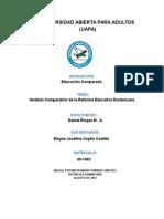 Analisis de La Reforma Educativa en Republica Dominicana TRABAJO FINAL