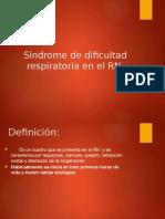 Sindrome de Dificultad Respiratoria en RN