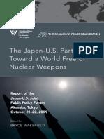 Japan-U.S. Partnership Toward a World Free of Nuclear