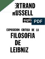 Russell Bertrand - Exposicion Critica de La Filosofia de Leibniz
