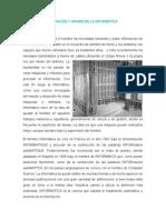 Definición y Origen de La Informatica
