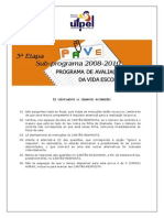 Caderno de Provas PAVE 2008-2010 Etapa 3