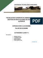 Actividad Clase IV Economia - FRReconquista